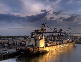 Ship at port with jpeg