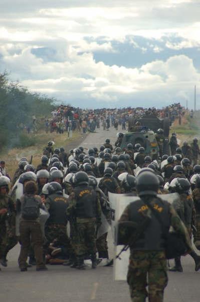 Peru FTA protest