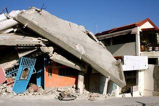 Haiti collapsed house
