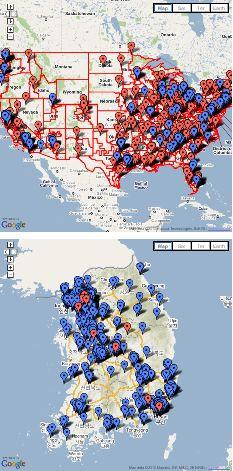 Korea maps image for blog