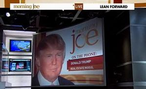 Donald Trump on Morning Joe