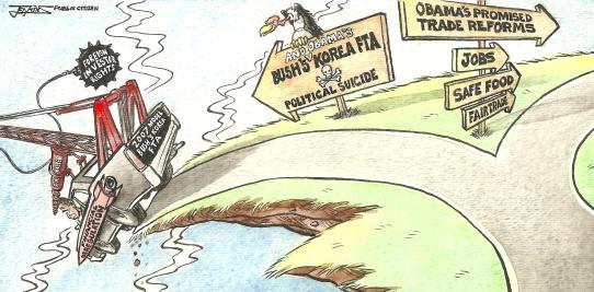 Korea trade deal cartoon