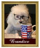 Our mascot, Brandice